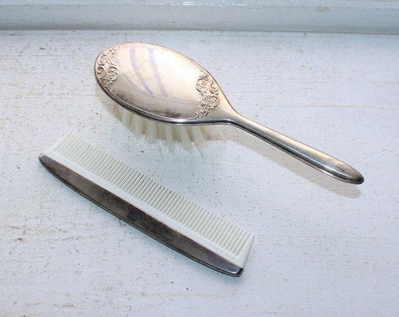 Gorham Sterling Silver Brush and Comb Child Size Vintage Vanity Set