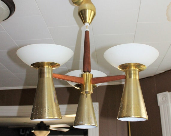 Vintage Mid Century Pull Down Ceiling Light Emerson Imperialite