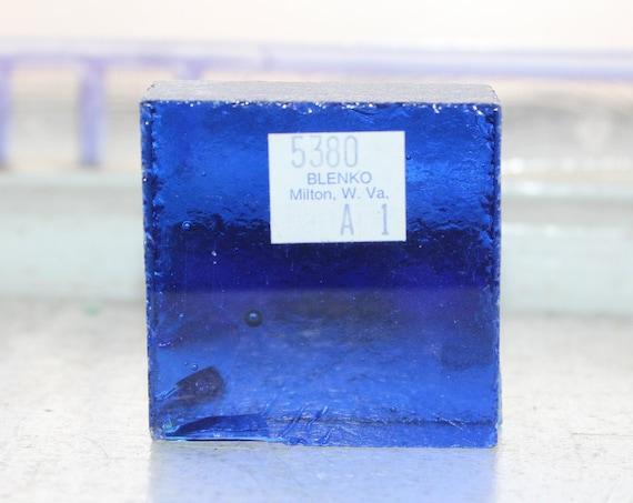 Vintage Blenko Glass Color Sample Block Paperweight Art Supply 5380 A1