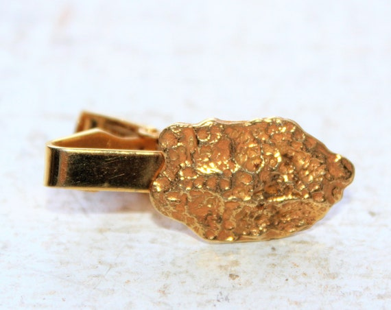 Vintage 10k Gold Tie Clip Gold Nugget Style