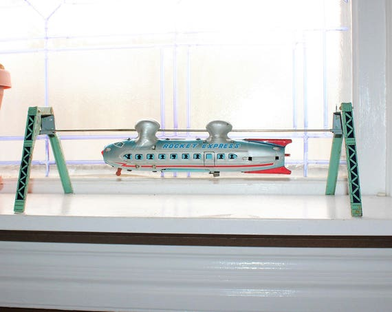 Vintage Rocket Express Monorail 1950s Japan Battery Operated Linemar