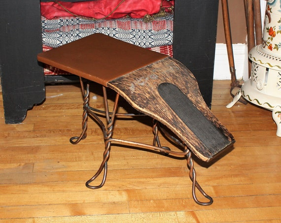 Antique Shoe Store Fitting Stool Bench Early 1900s