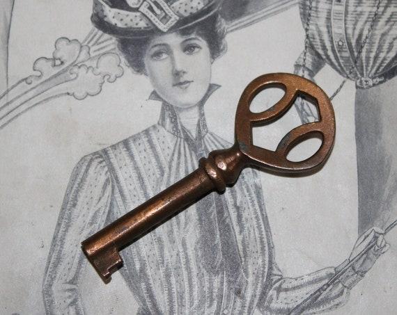 Antique Copper Skeleton Key Rustic Farmhouse Decor