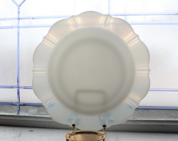 4 American Sweetheart Depression Glass Luncheon Plates Monax