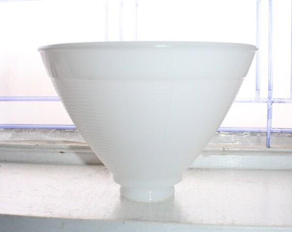 Vintage Light Shade White Milk Glass 1950s Torchiere Lamp Globe