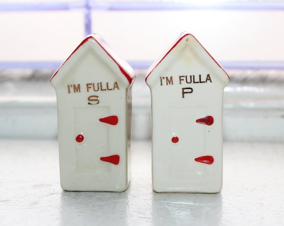 Vintage Salt and Pepper Shakers Outhouses
