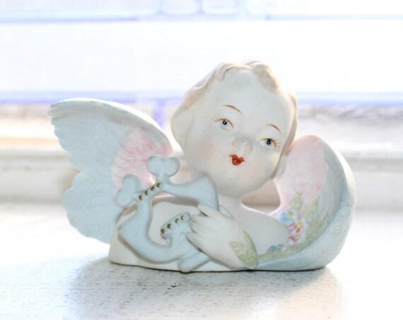 Vintage Lefton Cherub Angel Bust Figurine