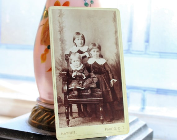 Vintage Carte De Visite Photograph Victorian Children 1800s