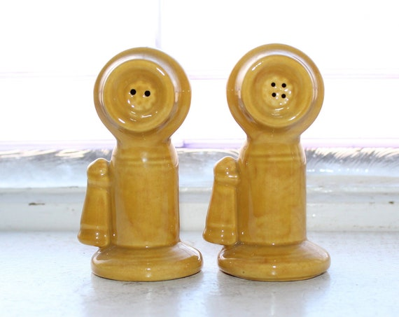 Vintage Salt and Pepper Shakers Candlestick Telephones