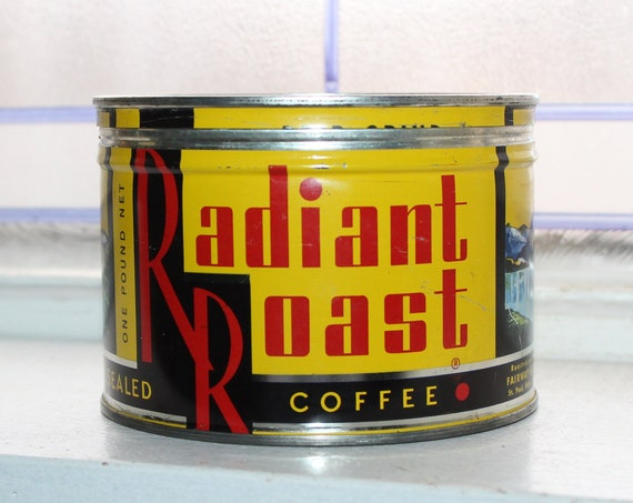 Vintage Coffee Tin Radiant Roast Can