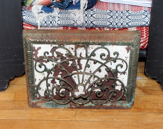 Antique Victorian Wall Vent Register Grate Architectural Salvage