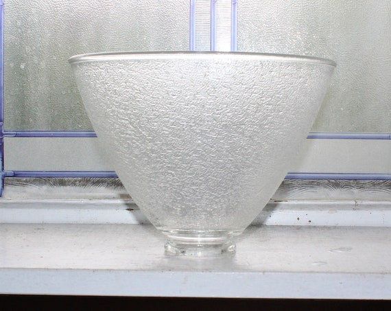Vintage Light Shade Textured Glass 1950s Torchiere