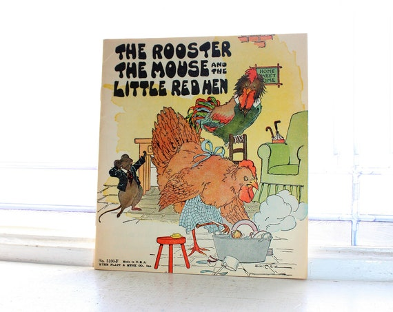 Vintage 1932 Children's Book The Rooster The Mouse & The Little Red Hen