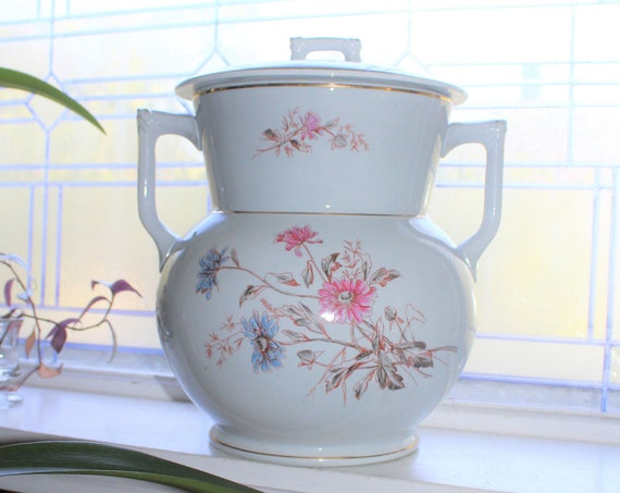 Antique Victorian Chamber Pot Large Ironstone Knowles Taylor Knowles