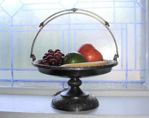 Antique 19th Century Victorian Rogers & Bro. Silverplate Fruit Basket