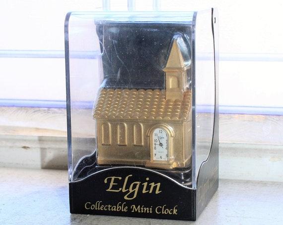 Vintage Elgin Cathedral Mini Clock