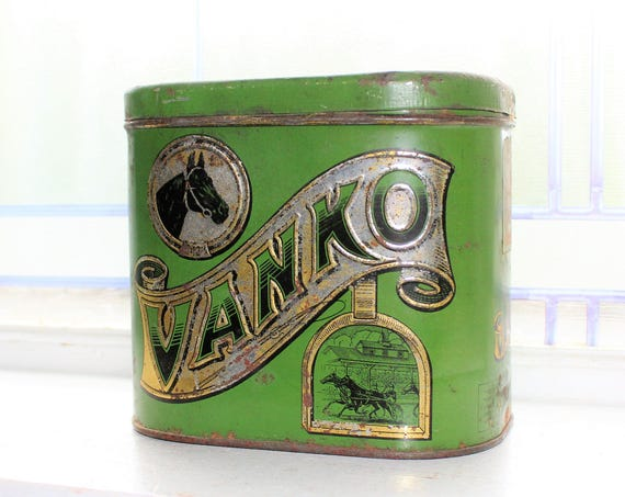 Antique Vanko Tobacco Tin 1910s