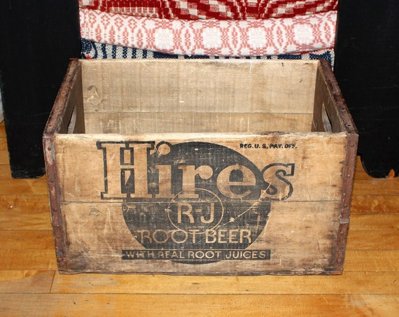 Vintage Hires Root Beer Box Crate Wood