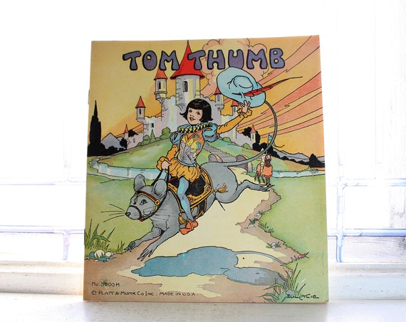 Vintage 1934 Children's Book Tom Thumb