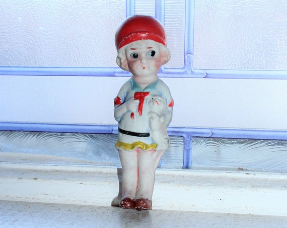 Vintage Doll Frozen Charlotte Adorable Flapper Girl Stocking Stuffer