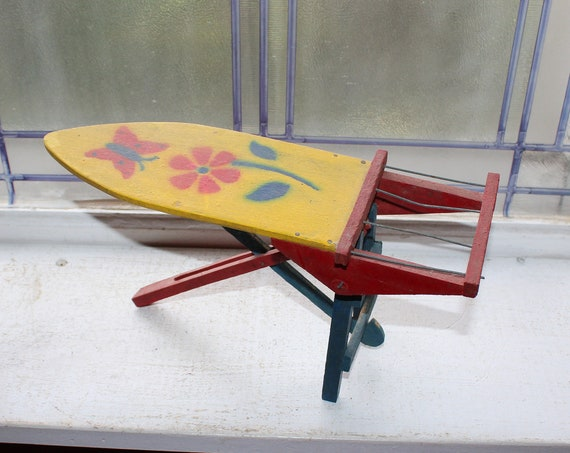 Vintage Child's Toy Wood Ironing Board Primitive Farmhouse Decor