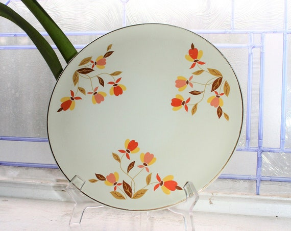 Hall China Autumn Leaf Cake Plate Vintage 1950s