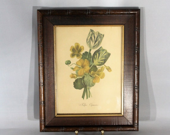 Antique Lithograph Flowers Print Artistic Picture Publishing Company