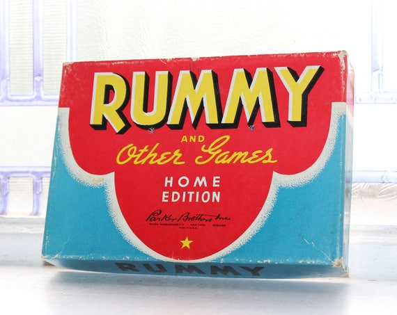 Vintage Card Game Rummy Parker Brothers 1930s