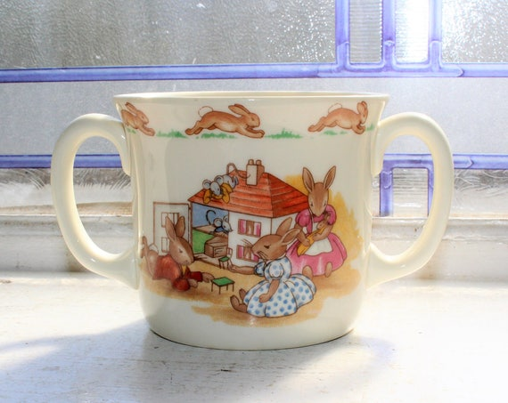 Vintage Royal Doulton Bunnykins Handled Child's Cup Mug