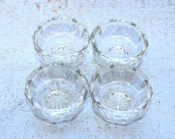 Antique Victorian Crystal Glass Salt Dips Set of 4
