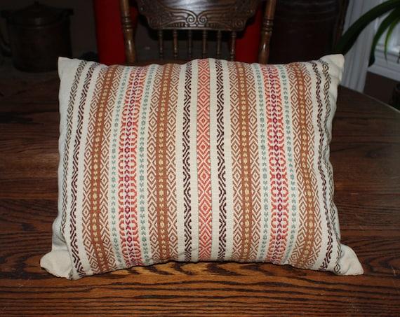 Antique Norwegian Hand Woven Pillow