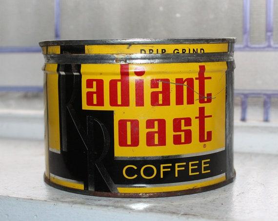 Vintage Coffee Tin Radiant Roast Can