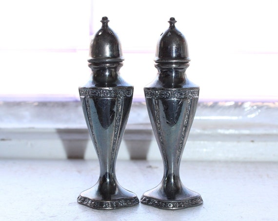 Vintage Silverplate Salt & Pepper Shakers
