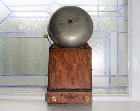 Antique Alarm Bell Industrial Steampunk Decor