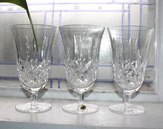 """3 Waterford Crystal Water Glasses 6.5"""" Stemware"""
