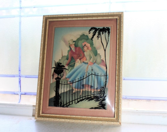 Vintage Silhouette Picture Victorian Couple