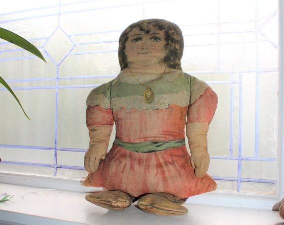 Antique Cloth Doll Art Fabric Mills Circa 1900