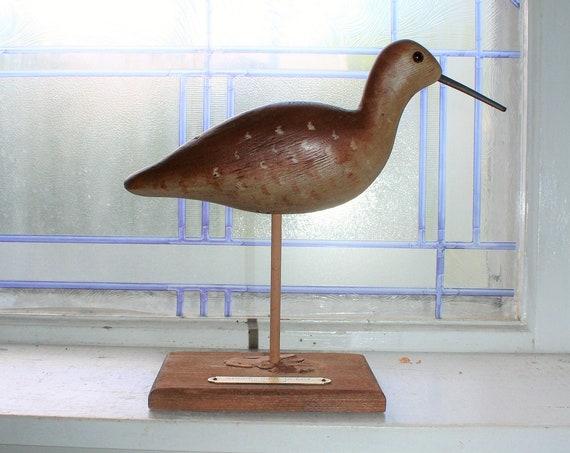 Vintage Hand Carved Wood Shore Bird Decoy Chippenhook Workshop