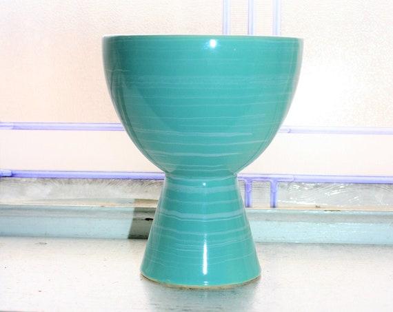 Vintage Mid Century Turquoise Vase McCoy Pottery Harmony Series