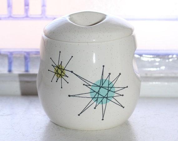 Franciscan Starburst Sugar Bowl Vintage Mid Century Atomic 1950s