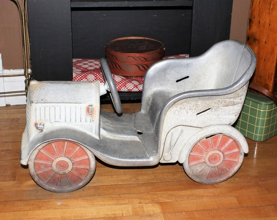 Vintage 1940s Carnival Ride Car Merry Go Round Amusement Park Jalopy