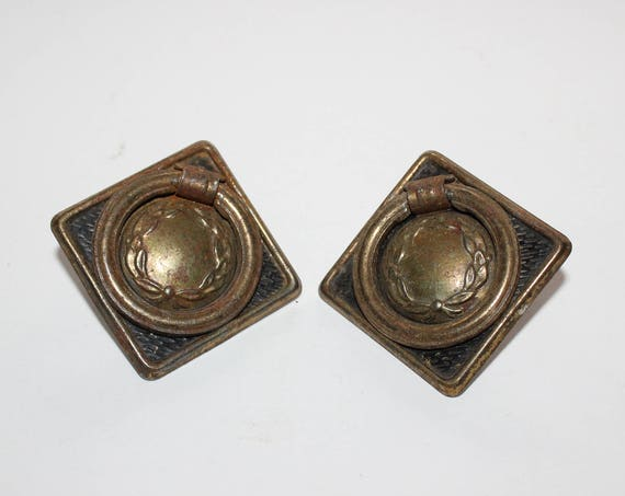 2 Antique Victorian Drawer Ring Pulls
