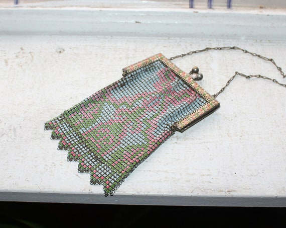 Vintage Art Deco Mesh Purse 1920s Whiting and Davis