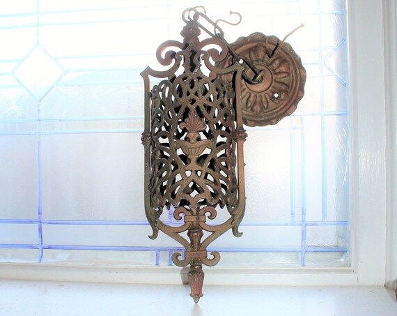 Antique Victorian Ceiling Pendant Light Fixture Circa 1890s