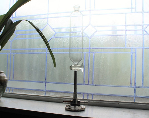 Vintage Steampunk Decor Glass Laboratory Test Tube and Stand