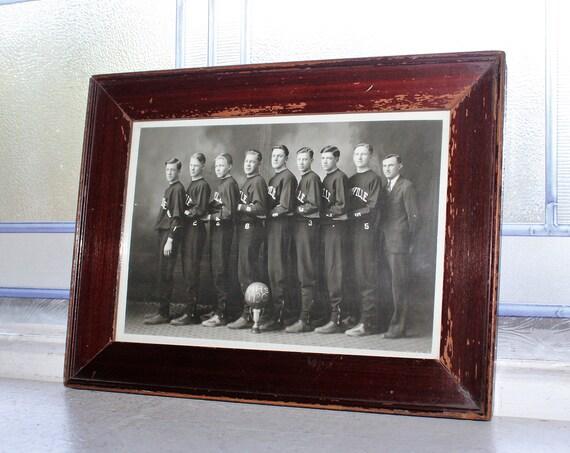 Vintage Basketball Team Photograph Mayville North Dakota Circa 1930