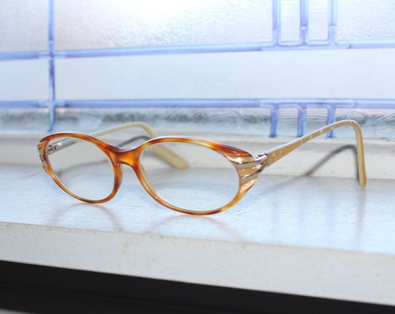 Mid Century Women's Cat Eye Eyeglasses Tortoise Shell Vintage 1950s