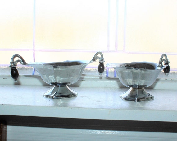 Art Deco Chrome Sugar and Creamer Vintage 1930s