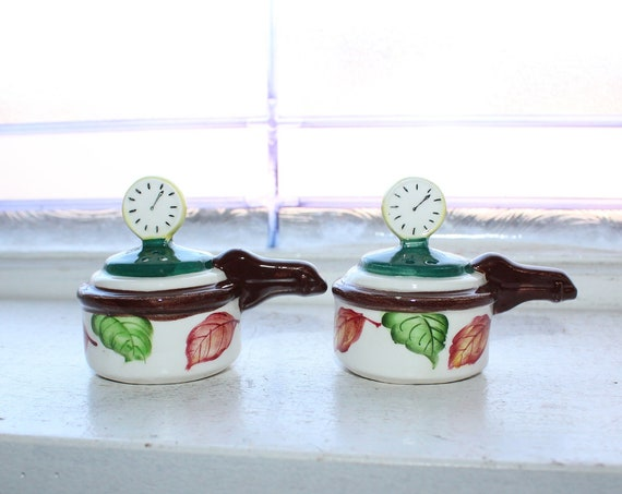 Vintage Salt and Pepper Shakers Pressure Cookers