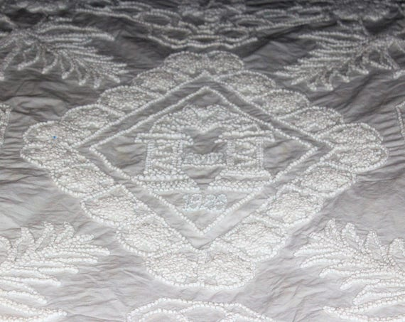 White Bedspread 1926 Copy of 1829 Munroe Tavern Coverlet Candlewick